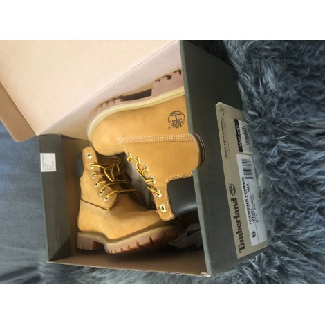 Santiags, bottines, low boots cowboy TIMBERLAND Bottes Beige, camel