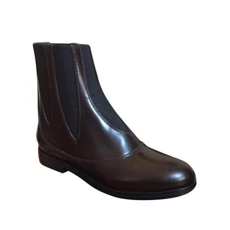 Bottines & low boots plates ALAÏA Marron