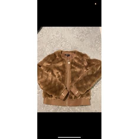 Blouson, veste en fourrure MORGAN Beige, camel