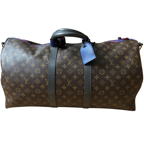 Sac XL en cuir LOUIS VUITTON Keepall Multicouleur