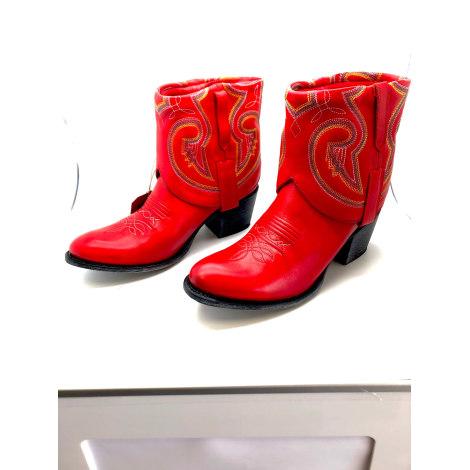 Santiags, bottines, low boots cowboy SENDRA Rouge, bordeaux