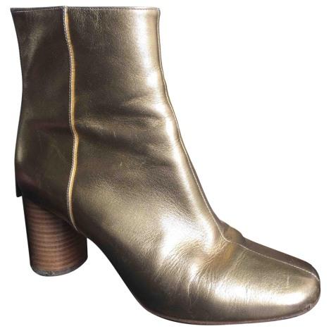High Heel Ankle Boots SANDRO Golden, bronze, copper