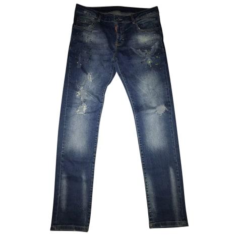 Pantalone dritto DSQUARED2 Blu, blu navy, turchese