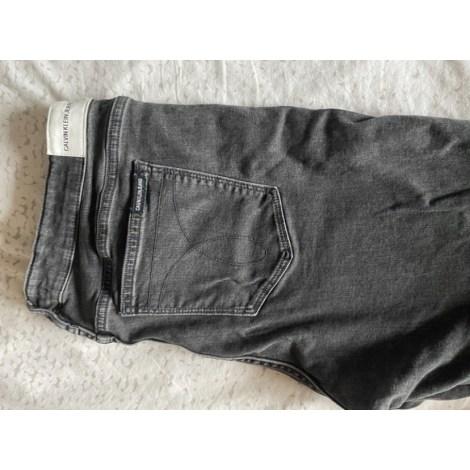 Jeans slim CALVIN KLEIN Gris, anthracite