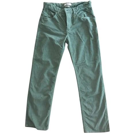 Pantalon droit ISABEL MARANT ETOILE Vert