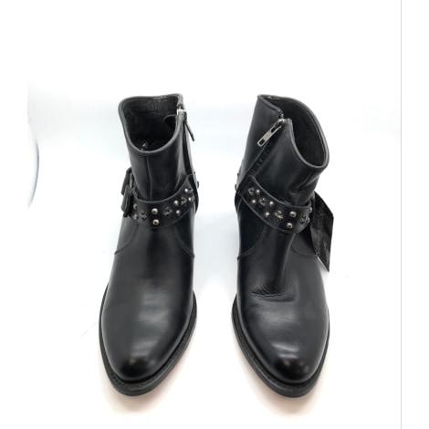 Santiags, bottines, low boots cowboy SENDRA Noir