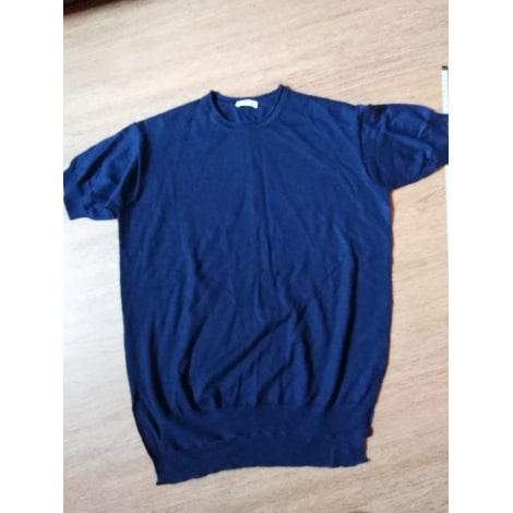 Top, tee-shirt P.A.R.O.S.H. Bleu, bleu marine, bleu turquoise