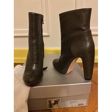 Bottines & low boots à compensés ROLAND MOURET Kaki