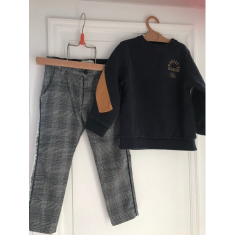 Pants Set, Outfit ZARA Blue, navy, turquoise