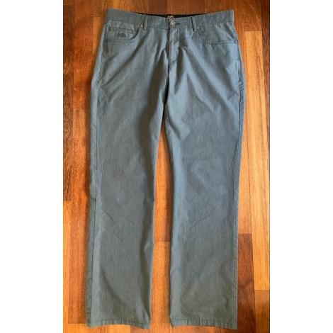 Pantalon droit HERMÈS Gris, anthracite