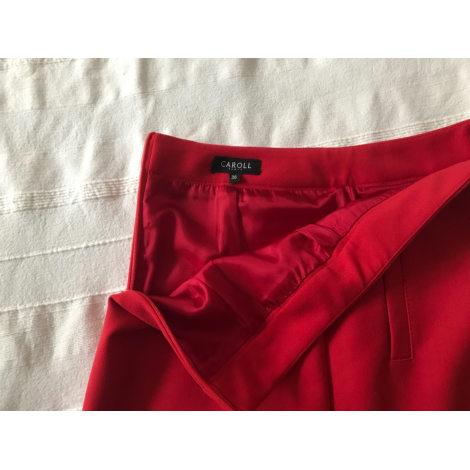Jupe courte CAROLL Rouge, bordeaux