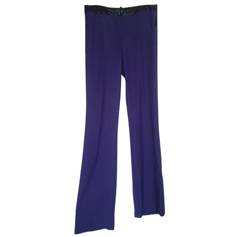 Pantalon droit JUST CAVALLI Violet, mauve, lavande