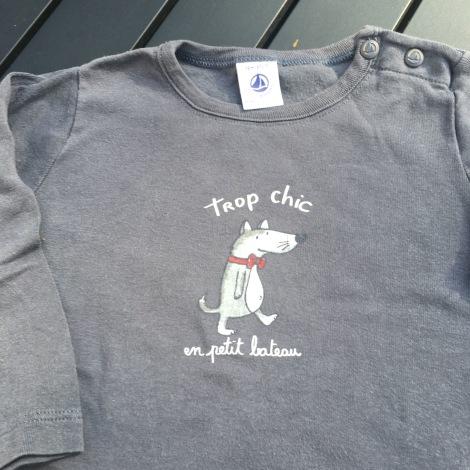 Top, tee shirt PETIT BATEAU Gris, anthracite