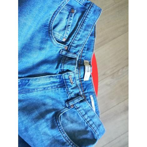 Pantalon droit MANGO Bleu, bleu marine, bleu turquoise