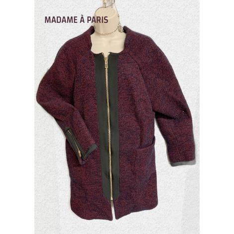 Manteau MADAME A PARIS Rouge, bordeaux