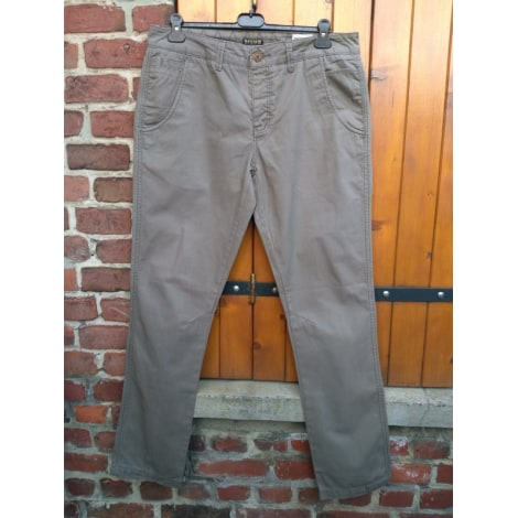 Pantalon droit REVIEW kaki,gris.