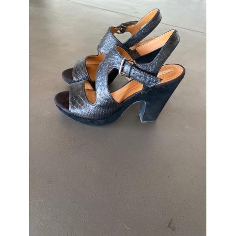 Sandales compensées GEOX Noir