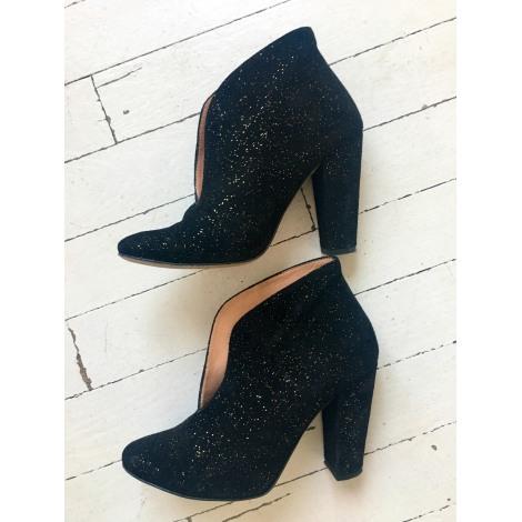 Bottines & low boots à talons GANNI Noir