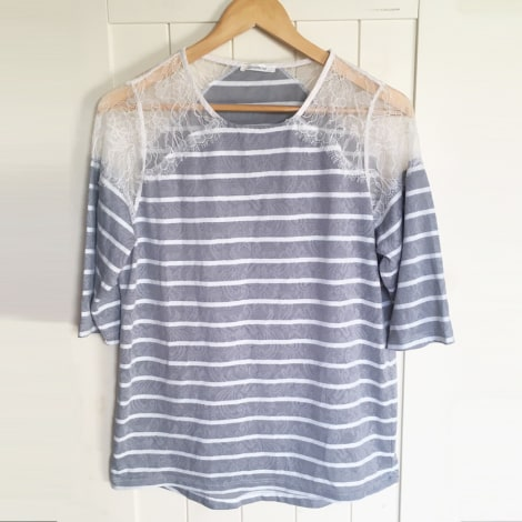 Top, tee-shirt PROMOD Gris, anthracite