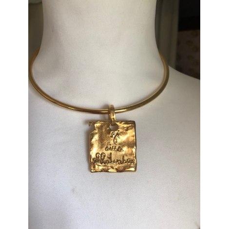 Sautoir BICHE DE BÈRE Doré, bronze, cuivre