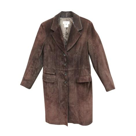 Manteau en cuir GEORGES RECH Marron