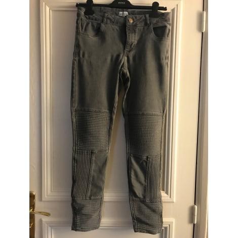 Jeans slim CLAUDIE PIERLOT Gris, anthracite
