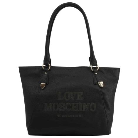 Sac XL en cuir LOVE MOSCHINO Noir