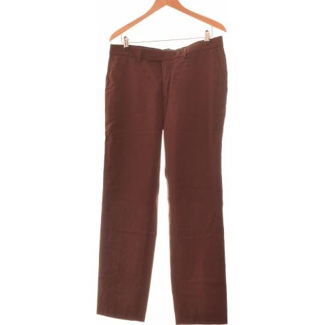 Pantalon droit THE KOOPLES Rouge, bordeaux