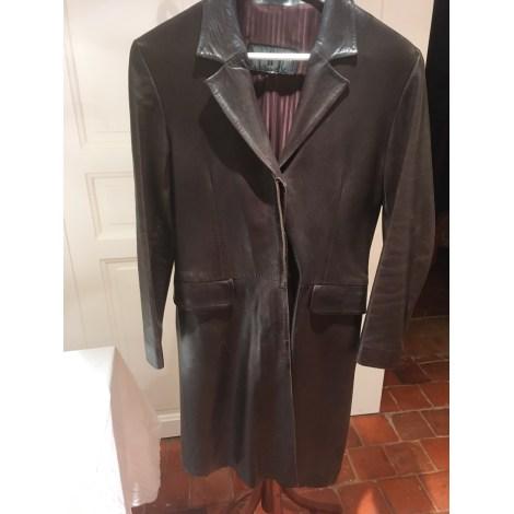 Manteau en cuir VENTCOUVERT Marron