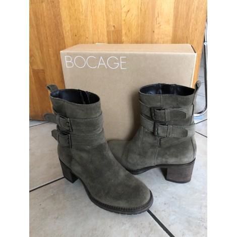 Bottines & low boots à talons BOCAGE Kaki