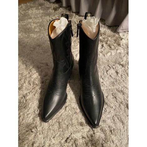 Santiags, bottines, low boots cowboy DIOR Noir