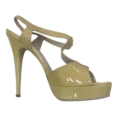 Heeled Sandals YVES SAINT LAURENT Tribute Beige, camel