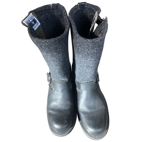 Bottines & low boots motards FRYE Noir,gris anthracite