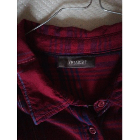Chemise YESSICA Rouge, bordeaux