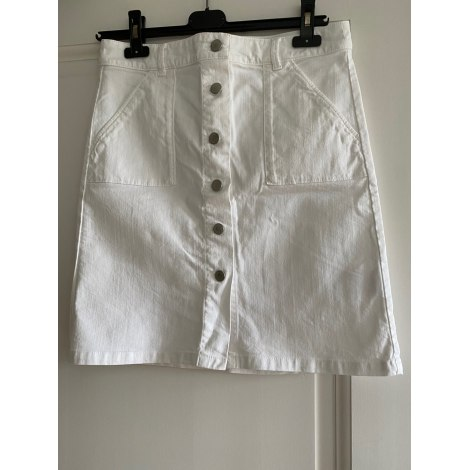 Jupe courte CAROLL Blanc, blanc cassé, écru