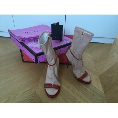 Sandales à talons GUCCI Rouge, bordeaux