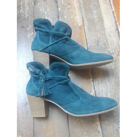 Bottines & low boots à talons BOCAGE Bleu, bleu marine, bleu turquoise
