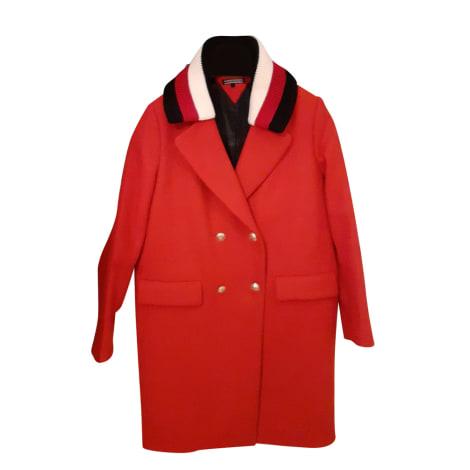 Manteau TOMMY HILFIGER Rouge, bordeaux