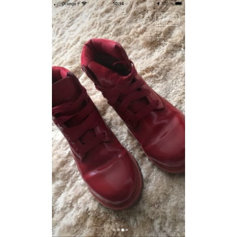 Flat Ankle Boots TIMBERLAND Red, burgundy
