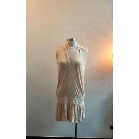Robe courte AMERICAN VINTAGE Blanc, blanc cassé, écru