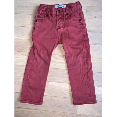 Pantalon QUIKSILVER Rouge, bordeaux