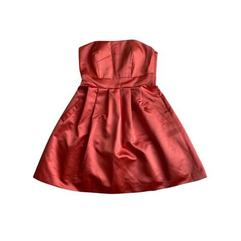 Robe bustier ALAIN MANOUKIAN Doré, bronze, cuivre