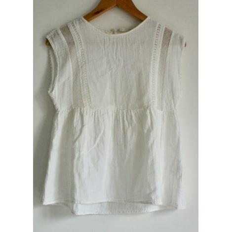 Top, tee-shirt ZARA Blanc, blanc cassé, écru