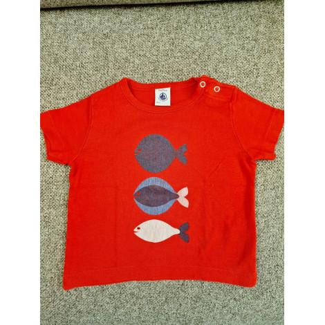 Top, tee shirt PETIT BATEAU Rouge, bordeaux