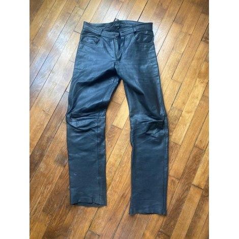 Pantalon slim MARQUE INCONNUE Noir