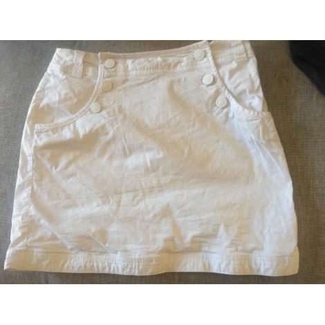 Jupe courte CAMAIEU Blanc, blanc cassé, écru