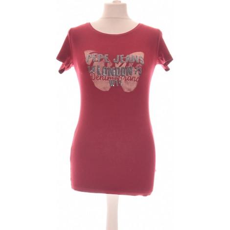 Top, tee-shirt PEPE JEANS Rouge, bordeaux