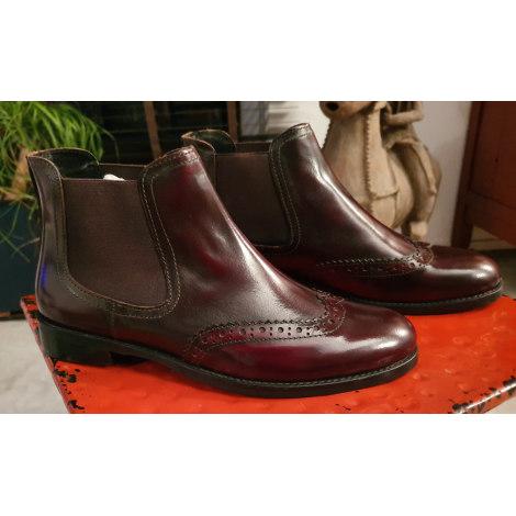 Bottines & low boots plates VERTIGO Rouge, bordeaux