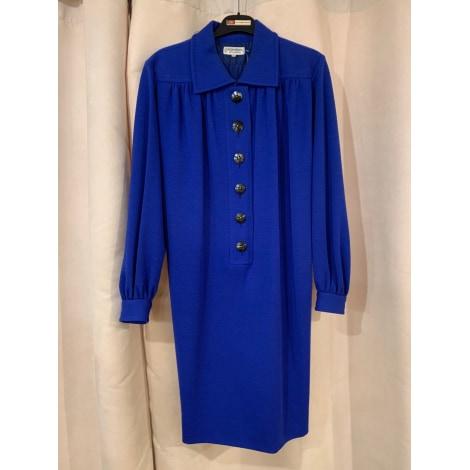 Robe courte YVES SAINT LAURENT Bleu, bleu marine, bleu turquoise