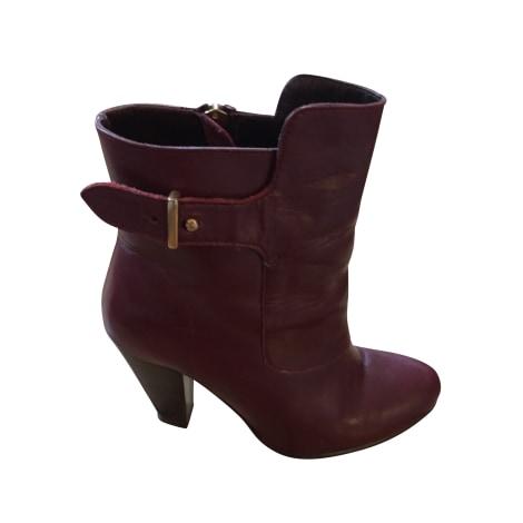 High Heel Ankle Boots CLAUDIE PIERLOT Red, burgundy